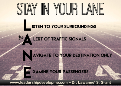 Stay in your L.A.N.E