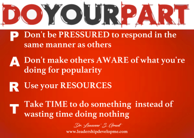 Do your P.A.R.T.